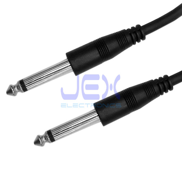 "10ft Guitar to Amp Cable 6.35mm 1/4"" Mono Male to Male Lead DJ Audio Cable"