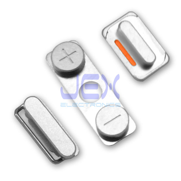 Button Set For White/Black iPhone 4 GSM Volume, Silent/Mute Switch Power on/off