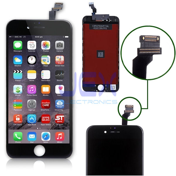 Black iPhone 6 Full Front Digitizer Touch Screen and LCD Assembly Display