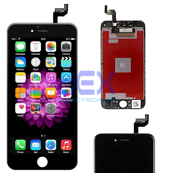 Black iPhone 6S Plus Full Front Digitizer Touch Screen and LCD Assembly Display