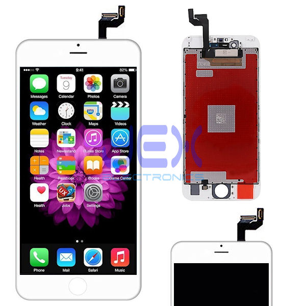 White iPhone 6S Plus Full Front Digitizer Touch Screen and LCD Assembly Display