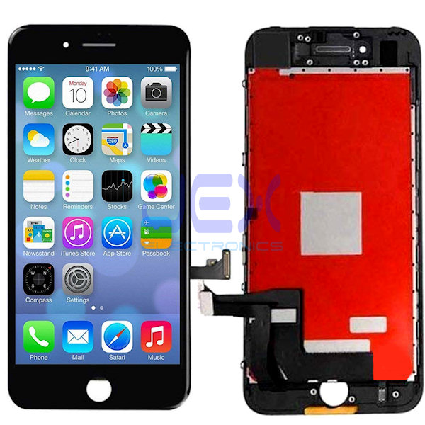 Black iPhone 7 Full Front Digitizer Touch Screen and LCD Assembly Display