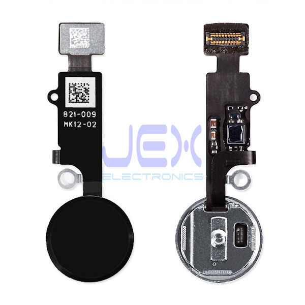 Black Home Button/Touch Fingerprint ID Sensor Flex Cable For iPhone 7 or 7 Plus