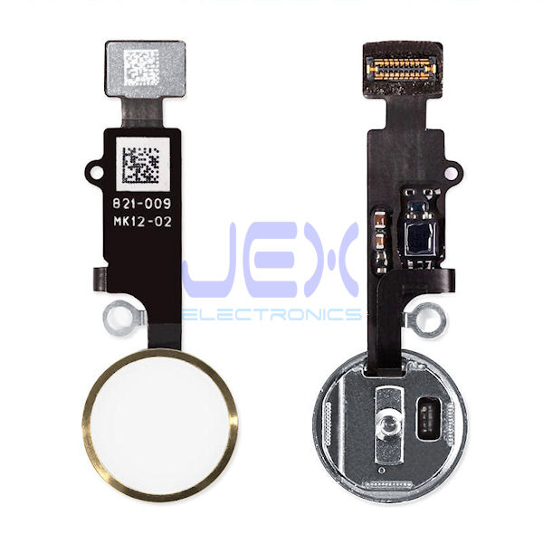 Gold Home Button/Touch Fingerprint ID Sensor Flex Cable For iPhone 7 or 7 Plus