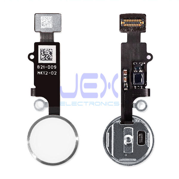 Silver Home Button/Touch Fingerprint ID Sensor Flex Cable For iPhone 7 or 7 Plus