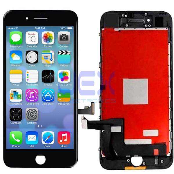 Black iPhone 7 Plus Full Front Digitizer Touch Screen and LCD Assembly Display