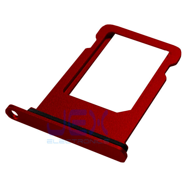 Red Aluminum Nano Sim Card Holder Tray For White Iphone 7 Plus