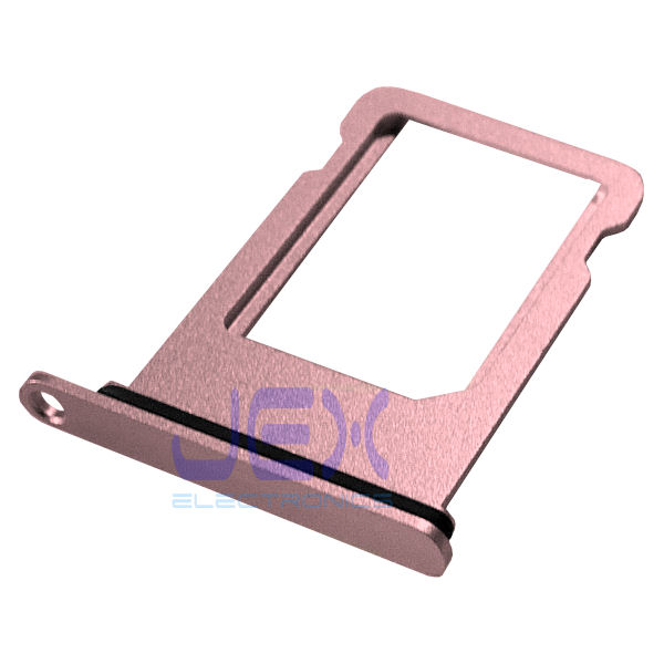 Rose Gold Pink Aluminum Nano Sim Card Holder Tray for White iPhone 8 Plus