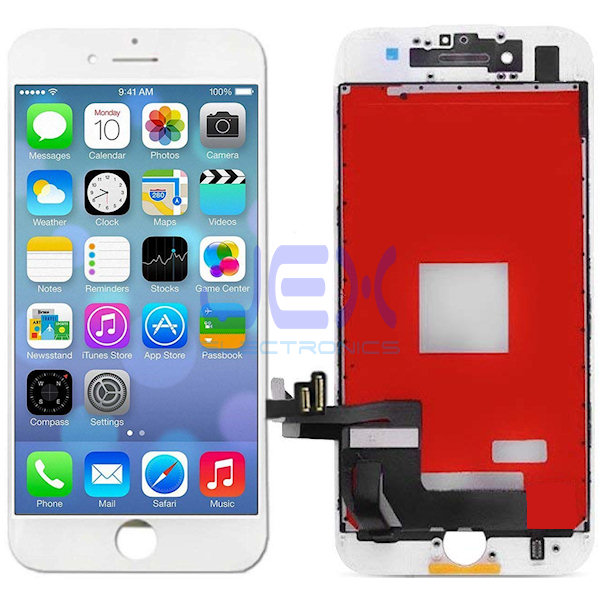 White iPhone 8 Full Front Digitizer Touch Screen and LCD Assembly Display