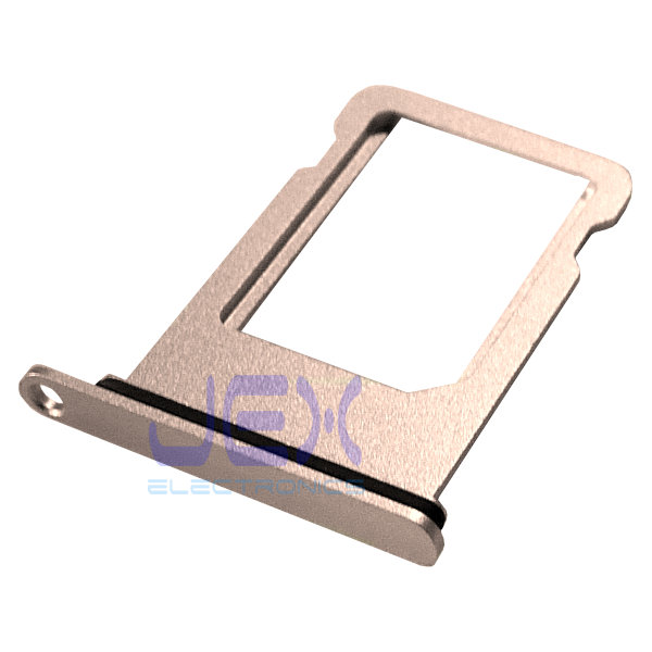 Gold Aluminum Nano Sim Card Holder Tray for iPhone 8 Plus