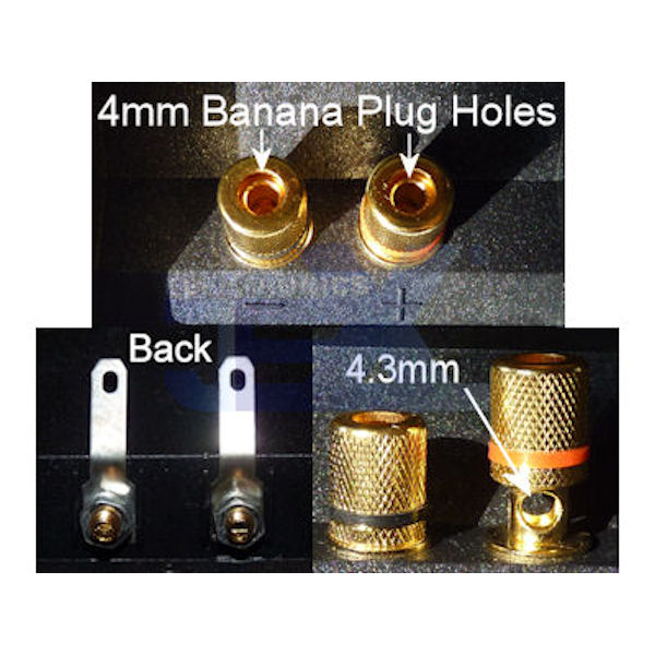 Round/Square Recessed Speaker Metal Binding Post Banana Terminal Plate for Sub-Woofer