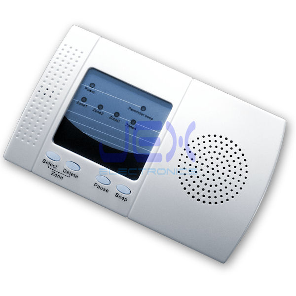 Add-on Wireless 4 Zone 128 Channel Indoor Receiver Alarm With Remote