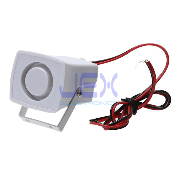 Add-on 110dB 12V Mini Wired Indoor/Outdoor Siren Alarm