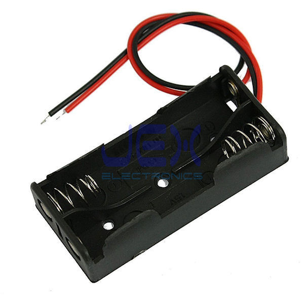 Twin/2X AAA DIY Battery Holder Case Box Base 3V Volt PCB Mount With Bare Wire Ends