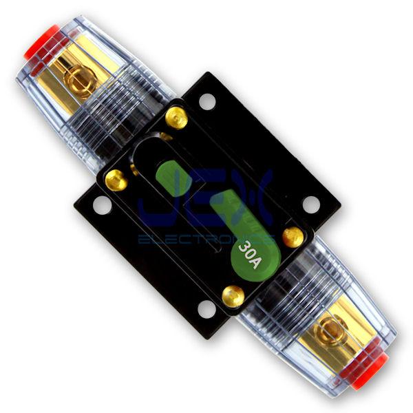 30 amp in line dc circuit breaker solar audio car rv 30a. Black Bedroom Furniture Sets. Home Design Ideas