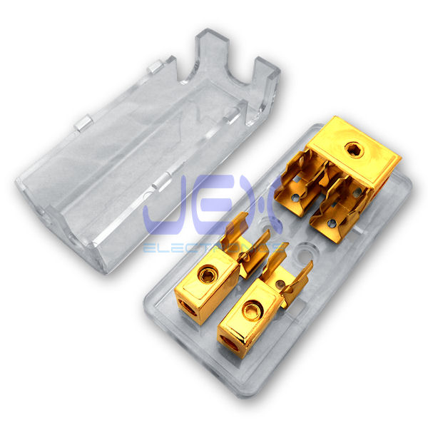 2-Way/2X AGU In-Line Fuse Holder Power Distribution Block Stereo/Audio/Car 10A-100A