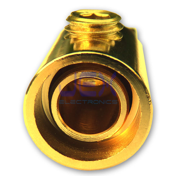"5/16"" Ring Terminal Power Connector 4AWG 1/0AWG Gold Plated Ground"