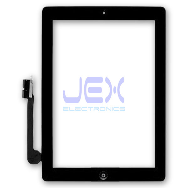 Black Glass Digitizer Touch Screen Full Front Assembly for iPad 4