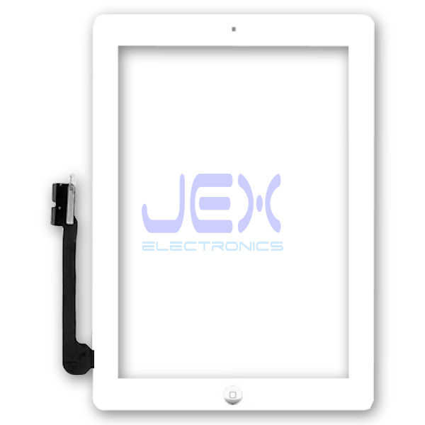 White Glass Digitizer Touch Screen Full Front Assembly for iPad 4