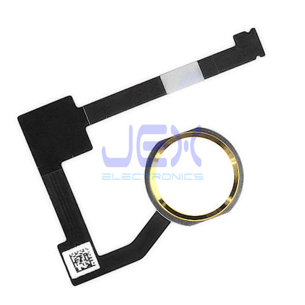 Gold Home Button/Touch Fingerprint ID Sensor Flex Cable For iPad Air 2