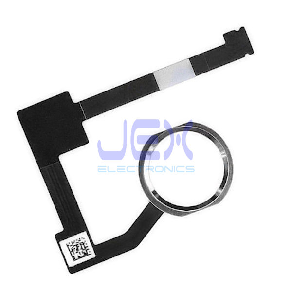 Silver Home Button/Touch Fingerprint ID Sensor Flex Cable For White iPad Air 2