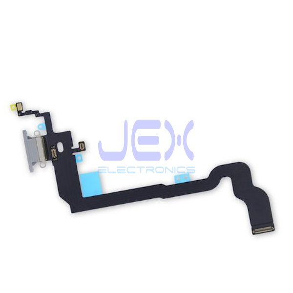 White Charging Port dock lower Microphone Antenna Flex Cable for Iphone X