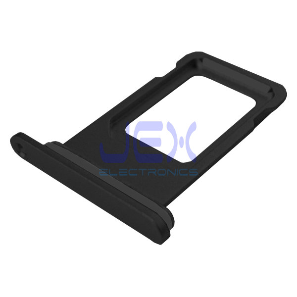 Black iPhone XR Replacement Nano Single Sim Card Holder Tray + Rubber Gasket