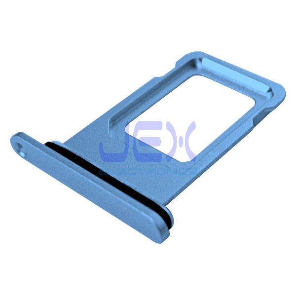Blue iPhone XR Replacement Nano Single Sim Card Holder Tray + Rubber Gasket
