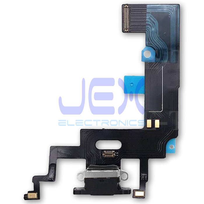 Black Iphone XR Charging Port dock lower Microphone Flex Cable