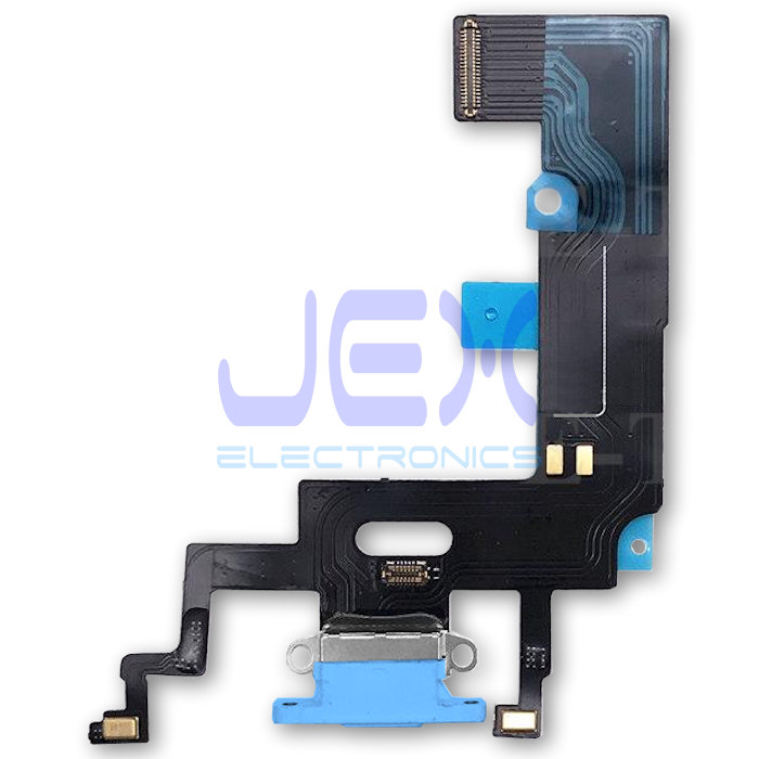 Blue Iphone XR Charging Port dock lower Microphone Flex Cable
