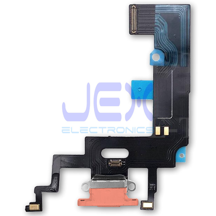Coral Orange Iphone XR Charging Port dock lower Microphone Flex Cable