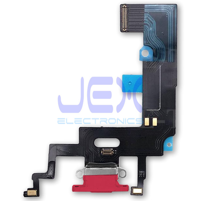 Red Iphone XR Charging Port dock lower Microphone Flex Cable