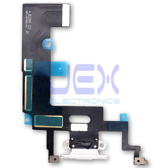 White Iphone XR Charging Port dock lower Microphone Flex Cable