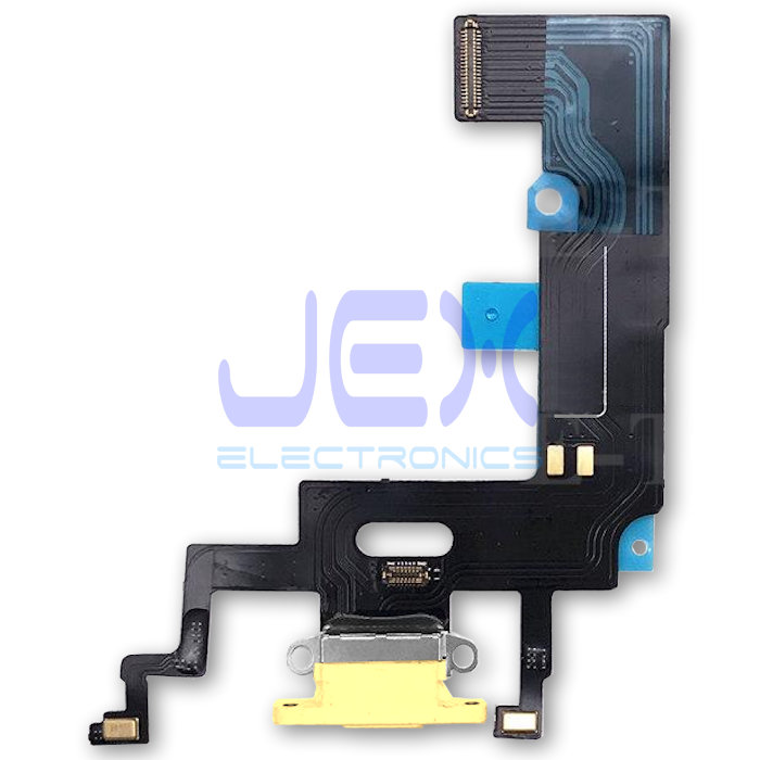 Yellow Iphone XR Charging Port dock lower Microphone Flex Cable