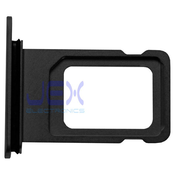 Black iPhone XS Max Replacement Nano Single Sim Card Holder Tray + Rubber Gasket