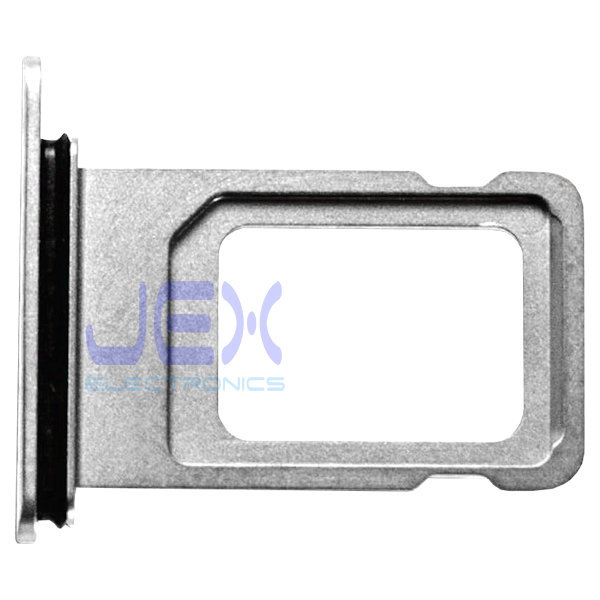 Silver White iPhone XS Max Replacement Nano Single Sim Card Holder Tray + Rubber Gasket