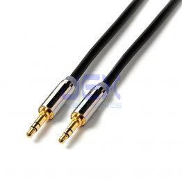 "Pro 6ft Headphone Speaker cable 1/8"" 3.5mm Stereo Jack Male to Male Gold Plated"