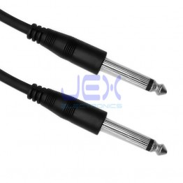 "3ft Guitar to Amp Cable 6.35mm 1/4"" Mono Male to Male Lead DJ Audio Cable"