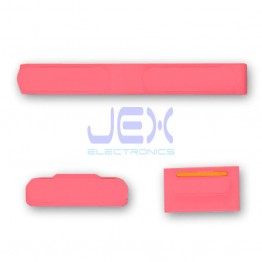 Pink Button Set For iPhone 5C Volume, Silent/Mute Switch Power on/off