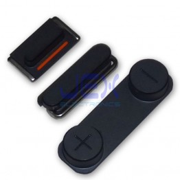 Black Button Set For iPhone 5 Volume, Silent/Mute Switch Power on/off