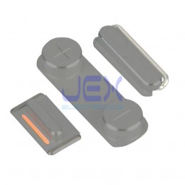 Space Gray Button Set For Black iPhone 5S or SE Volume, Silent/Mute Switch Power on/off