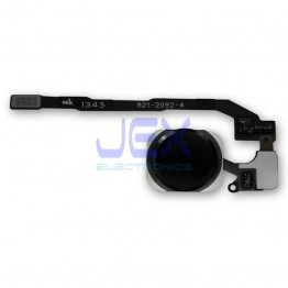 Black Home Button/Touch Fingerprint ID Sensor Flex Cable For iPhone 5S or SE