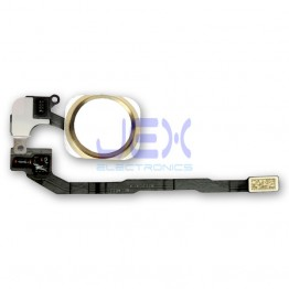 Gold Home Button/Touch Fingerprint ID Sensor Flex Cable For iPhone 5S or SE