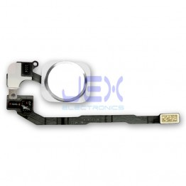 Silver Home Button/Touch Fingerprint ID Sensor Flex Cable For iPhone 5S or SE