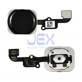 Black Home Button/Touch Fingerprint ID Sensor Flex Cable For iPhone 6 or 6 Plus
