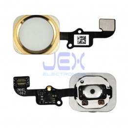 Gold Home Button/Touch Fingerprint ID Sensor Flex Cable For iPhone 6 or 6 Plus