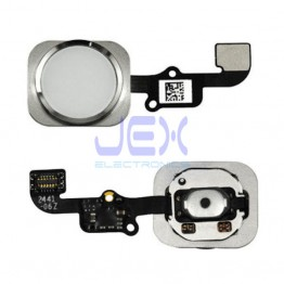 Silver White Home Button/Touch Fingerprint ID Sensor Flex Cable For iPhone 6 or 6 Plus