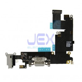 Space Gray Charging Port dock Microphone Headphone jack Flex Cable for Black Iphone 6 Plus