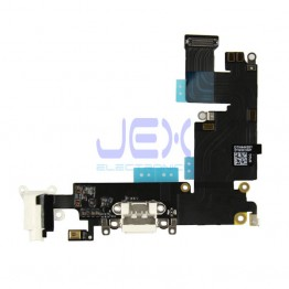 White Charging Port dock Microphone Headphone jack Flex Cable for White Iphone 6 Plus