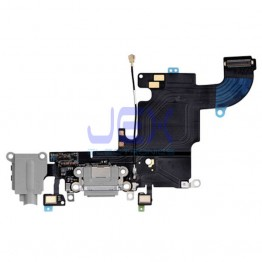 Space Gray Charging Port dock Microphone Headphone jack Flex Cable for Black Iphone 6S